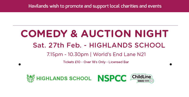 Highlands Auction & Comedy Night for NSPCC's ChildLine